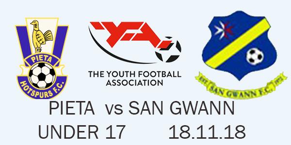 PIETA VS SAN GWANN U17 18.11