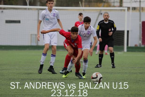 BALZAN VS ST ANDREWS U15