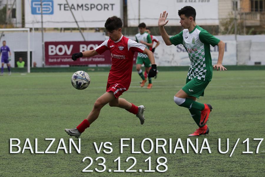 FLORIANA VS BALZAN U17